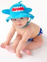 Zoocchini Swim Diaper & Sun Hat Set - Shark