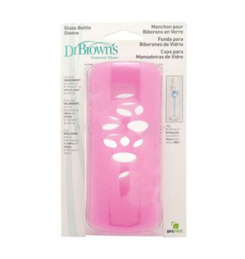Dr Brown's Glass Bottle Sleeve Pink 8oz