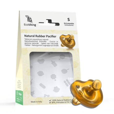 EcoViking Natural Rubber Pacifier Orthodontic 6-12m