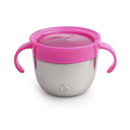 Munchkin Snack+ Stainless Steel Snack Catcher-Pink