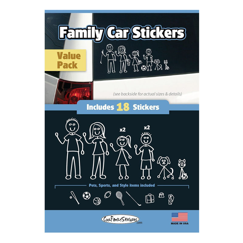 Family Sticker Cool Family White 18pcs