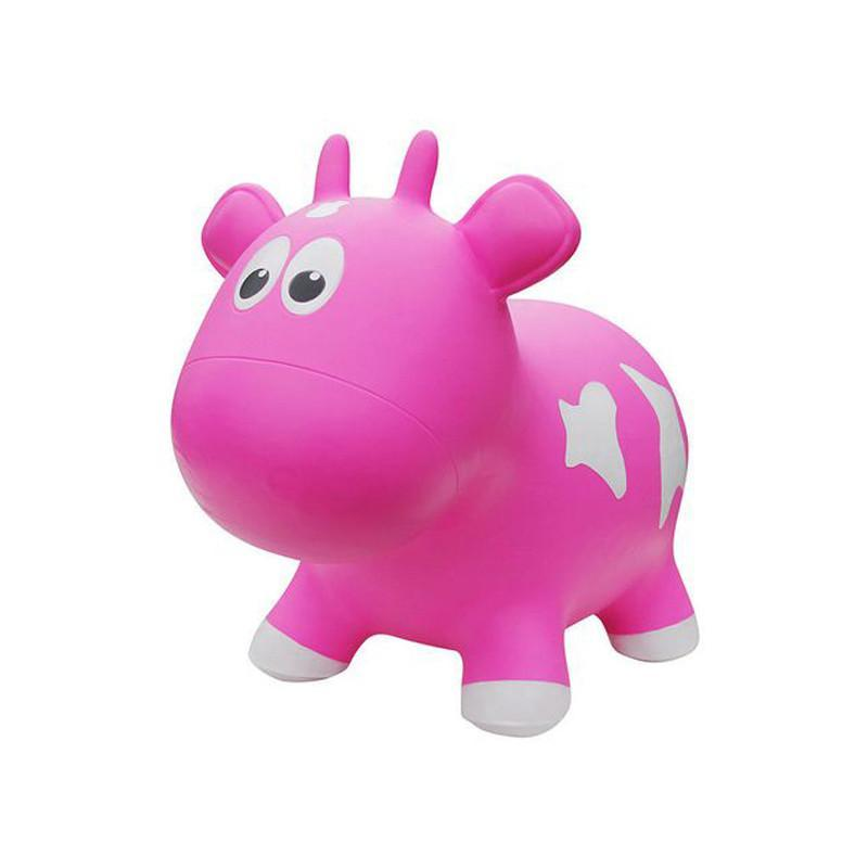 Farm Hoppers Animal Bouncers - Cow Pink - CanaBee Baby