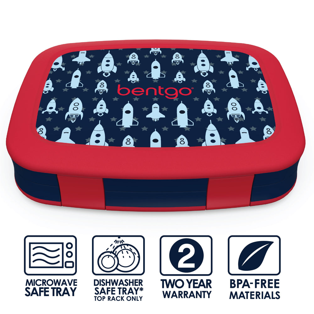 Bentgo Kids Prints Bento Lunch Box Rocket