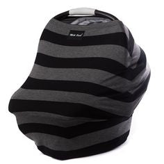Milk Snob Covers - Black and Grey Stripes