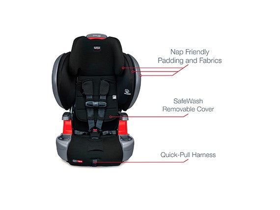 Britax Grow with you Click Tight Plus Harness 2 Booster Otto Safewash