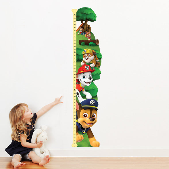 Oliver's Label Wall Art Growth Chart Paw Patrol
