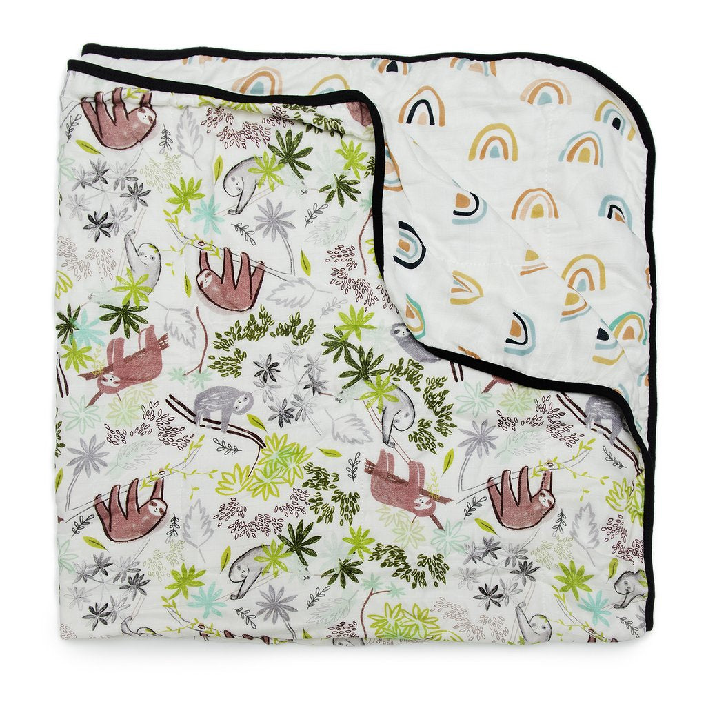 Loulou Lollipop Muslin Quilt Blanket Sloth