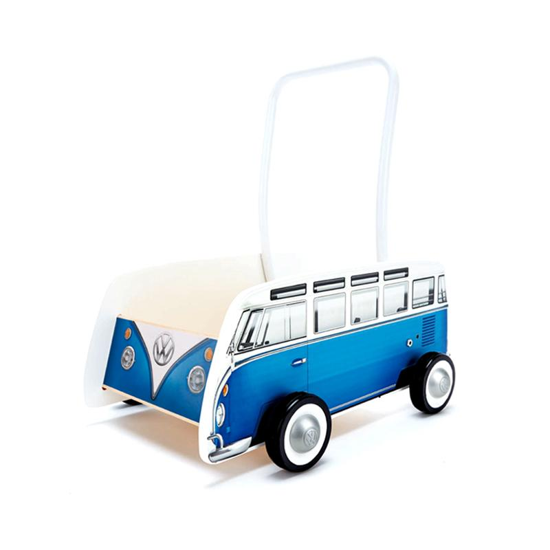 Hape Classical Bus T1 Walker Blue - CanaBee Baby