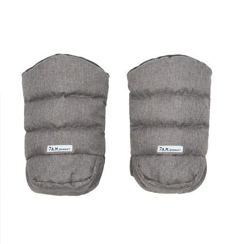 7 AM Warm Muffs 212 - Heather Grey - CanaBee Baby