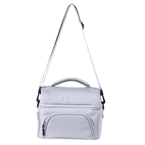 Bentgo Deluxe Insulated 2 Compartment Lunch Tote Grey