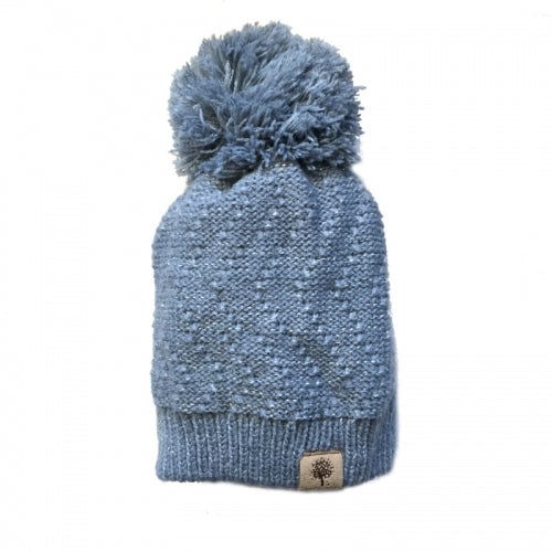 Bedford Road Knitted Hat With Metallic Thread Grey