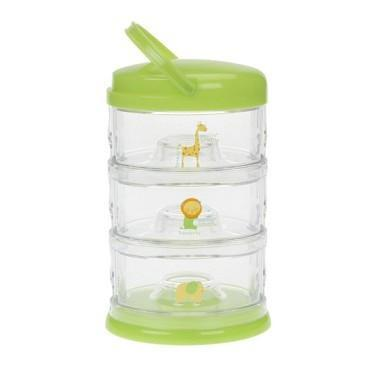 Innobaby Packin' Smart Stackables 3 Tier Zoo Animals - Lime Sorbet - CanaBee Baby