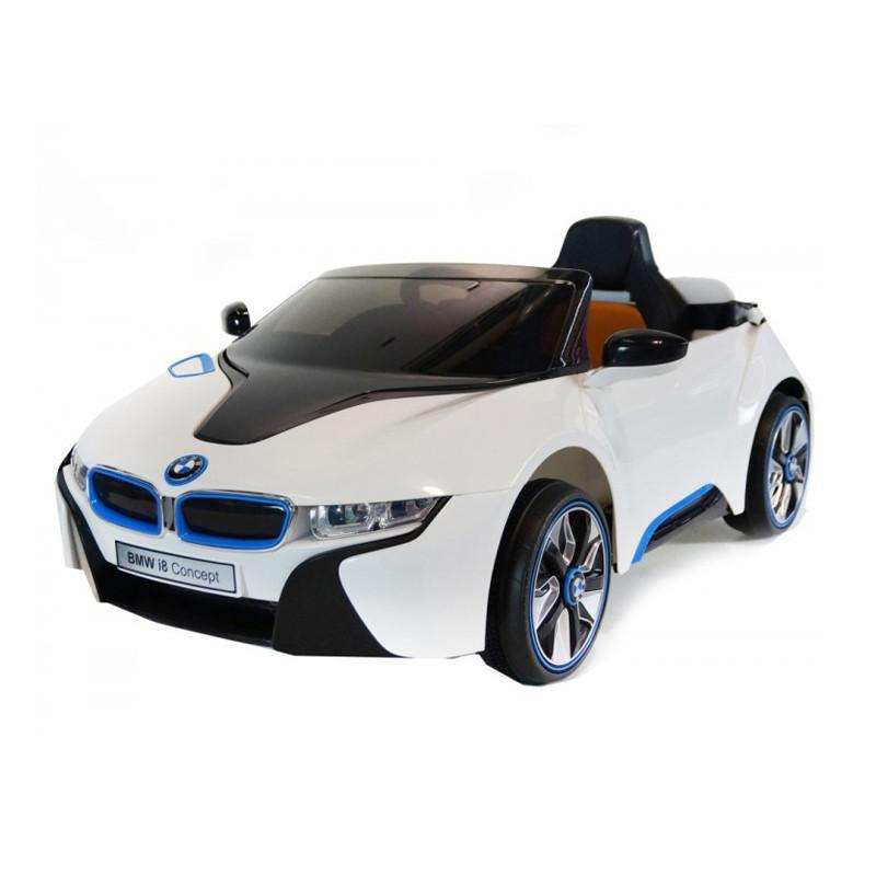 KoolKarz BMW I8 Electric Ride On Toy Car 12v - White - CanaBee Baby