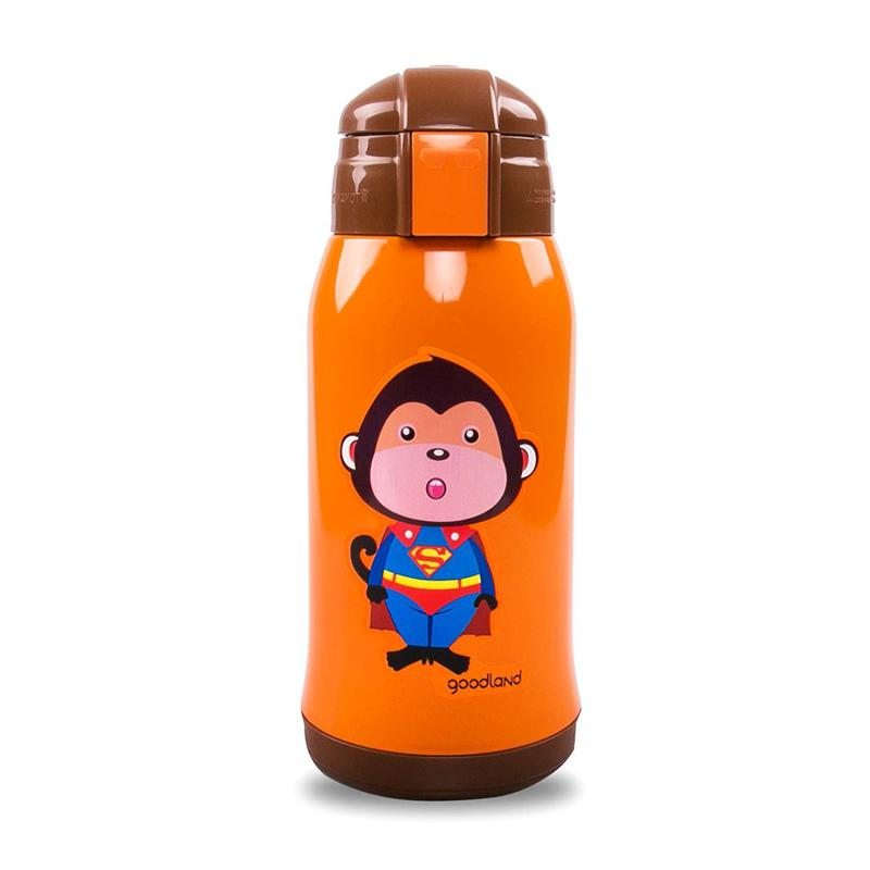 Kumamot 304 2-WAY Kids SUS Vacuum Water Bottle - Superman