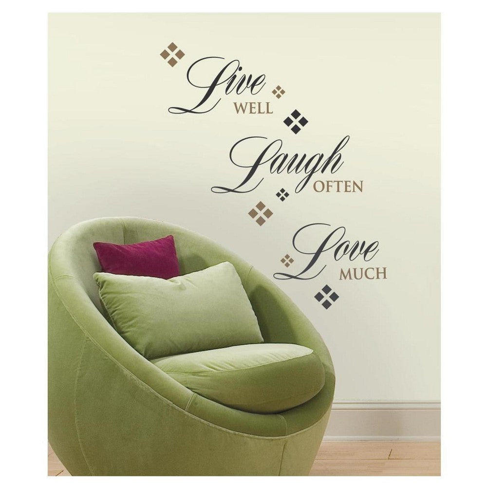 Roommates Live Love Laugh Wall Decals