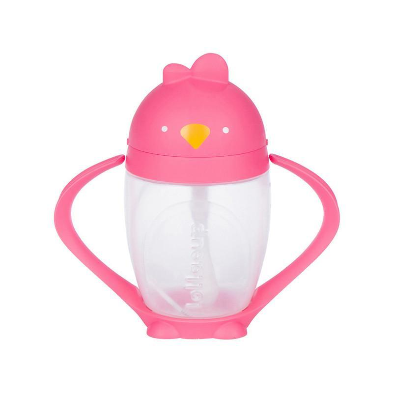 Lollaland Lollacup - Straw Sippy Cup - Pink - CanaBee Baby