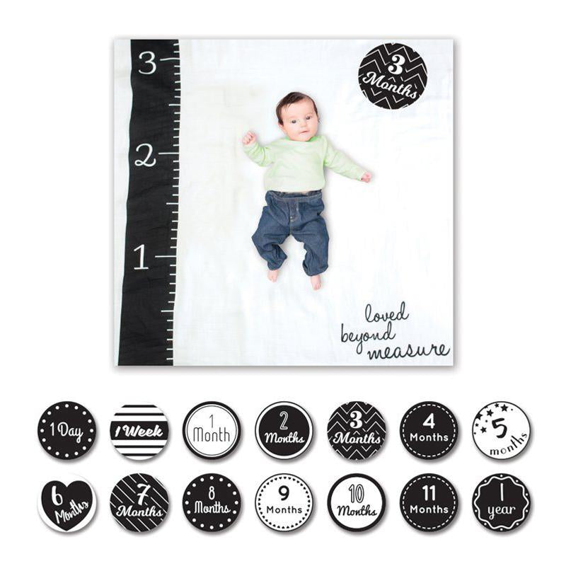 Lulujo Baby's 1st Year Blanket & Cards Set - Loved Beyond Measure - CanaBee Baby