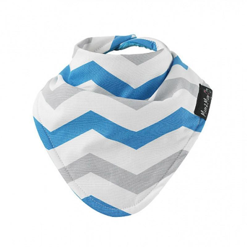 Mum2Mum Fashion Bandana Bib - Tear Grey Chevron - CanaBee Baby