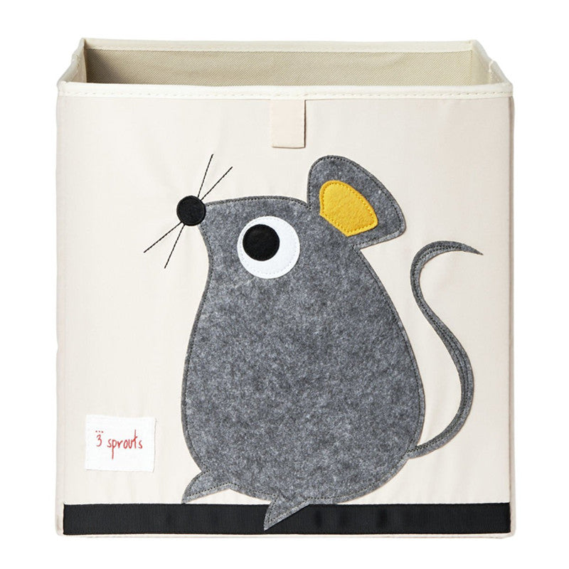 3 Sprouts Storage Box Mouse Grey