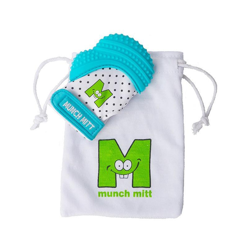 Munch Mitt Baby Teething Mitten - Blue - CanaBee Baby