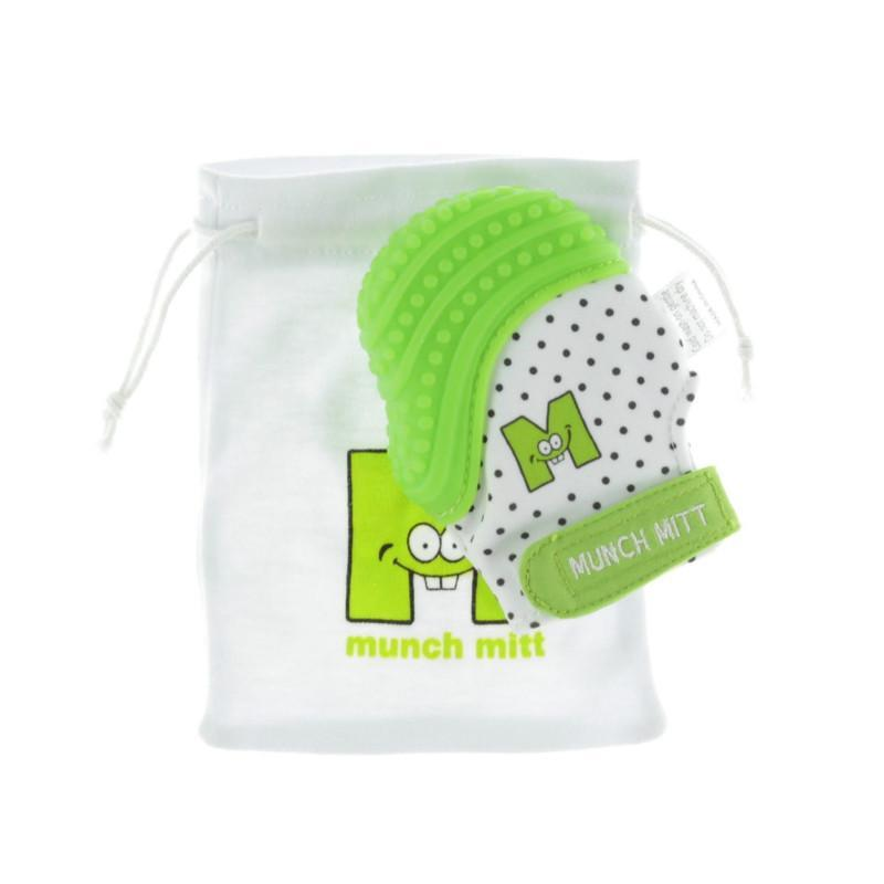 Munch Mitt Baby Teething Mitten - Green - CanaBee Baby