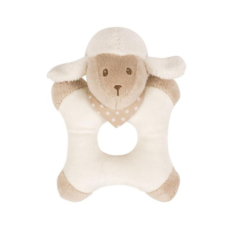 Nattou Cappuccino Ring Rattle - Lamb - CanaBee Baby