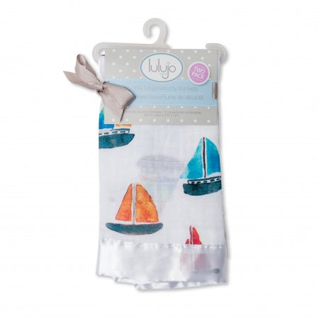 Lulujo Security Blanket Bailboat LJ061