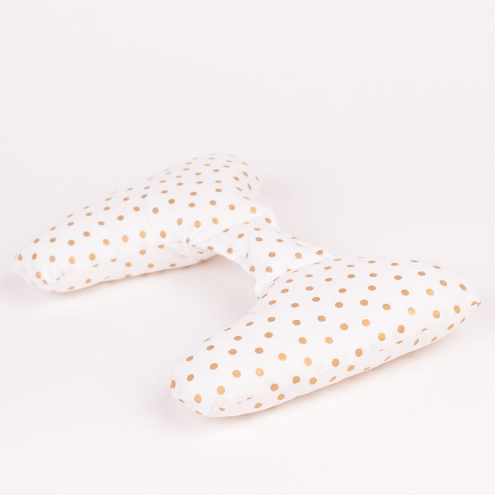 Ellie Earsrr Pillow Gold Dots