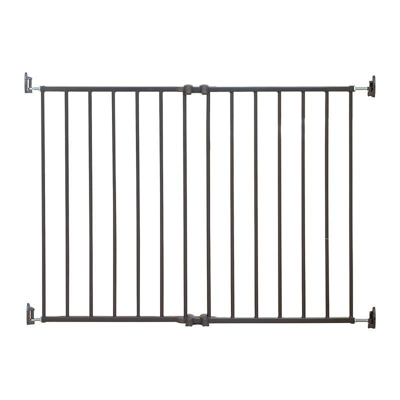 Qdos Extending SafeGate Hardware Mounted Gate - Slate - CanaBee Baby