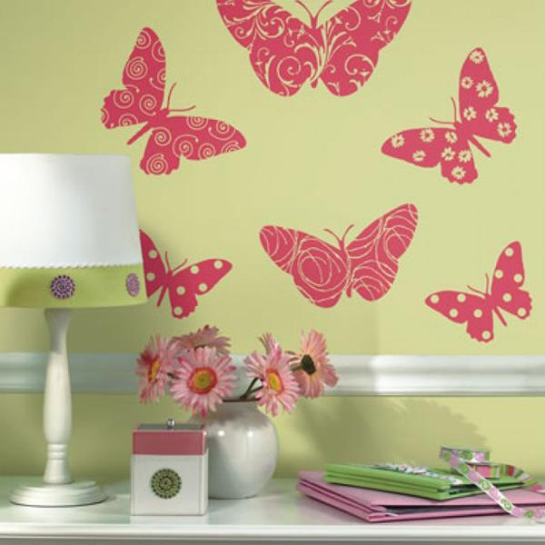 Roommates Flocked Butterfly Wall Appliques