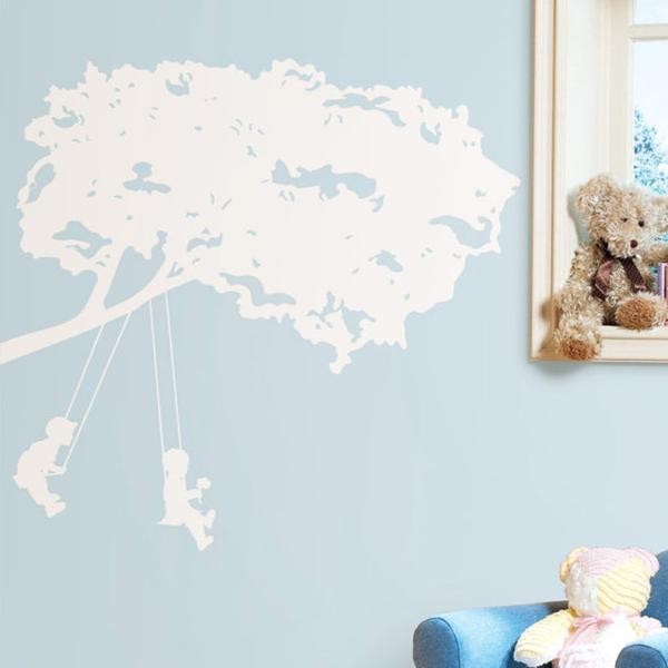 RoomMates Kids Kids On Swing Wall Decals