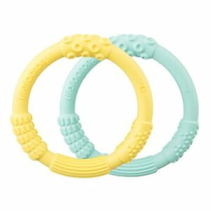 LifeFactory Silicone Teethers - Mint/Banana