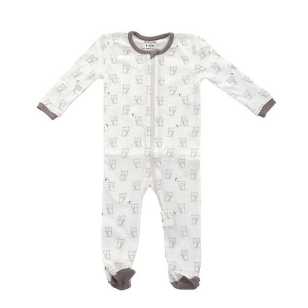 Silkberry Baby Organic Cotton Printed Footie Owl