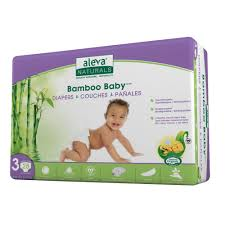 Aleva Bamboo Diapers-Size 3 / 28 ct