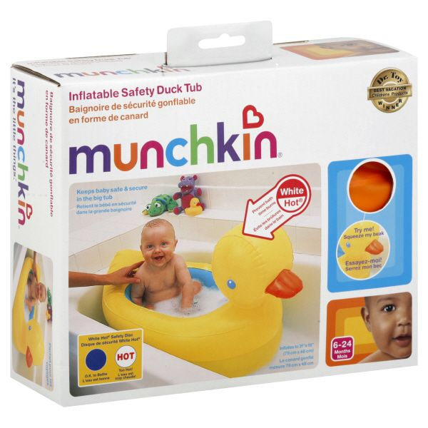 Munchkin White Hot Inflatable Safety Duck Tub 32201