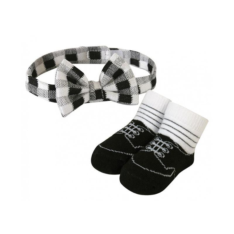 Stephan Baby Bow Tie & Sock Set - Black - CanaBee Baby