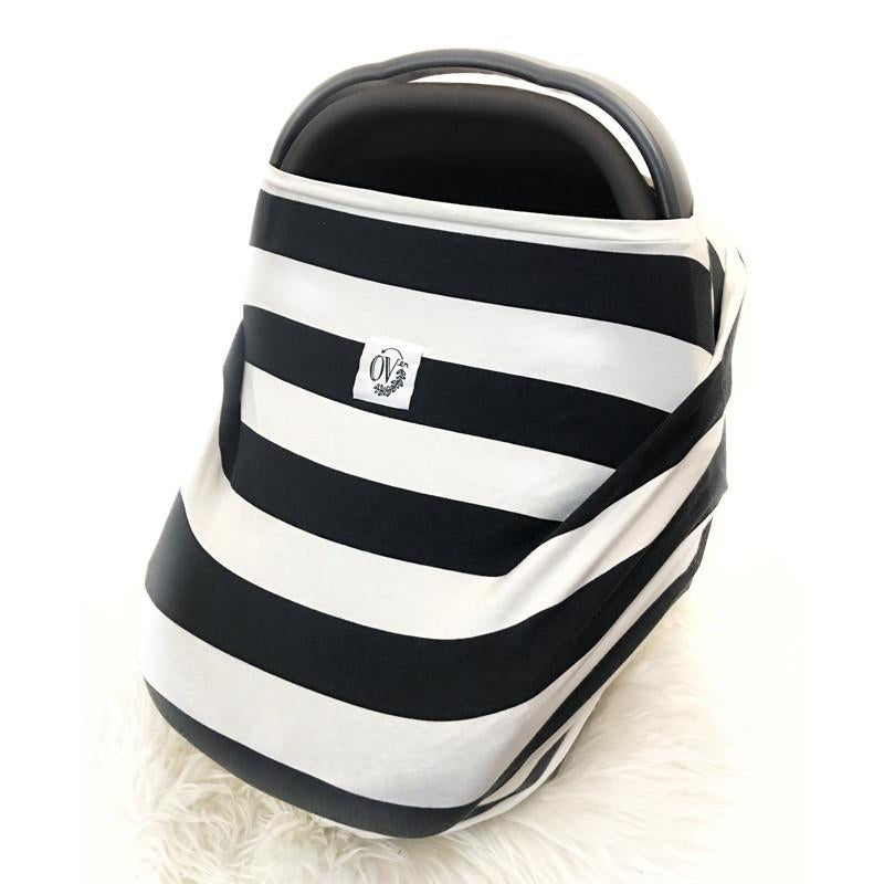 The Over Company Lightweight Multi Use Baby Cover -The Legacy Stripe OVer - CanaBee Baby