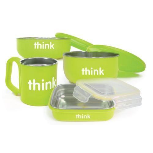 Thinkbaby Stainless Steel Complete Feeding Set - Green - CanaBee Baby