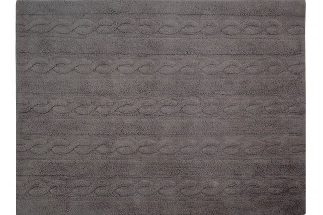 Lorena Canals Washable Rugs - Trenzas(Dark Grey)