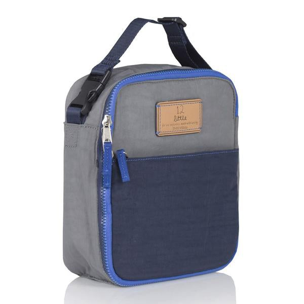 Twelve Little Courage Insulated Lunch Bag - Grey/Navy