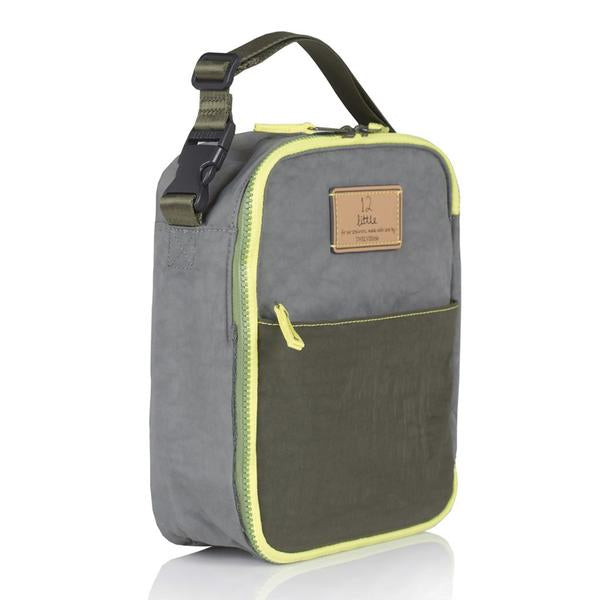 Twelve Little Courage Insulated Lunch Bag - Grey/Olive