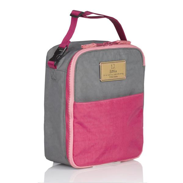Twelve Little Courage Insulated Lunch Bag - Grey/Pink