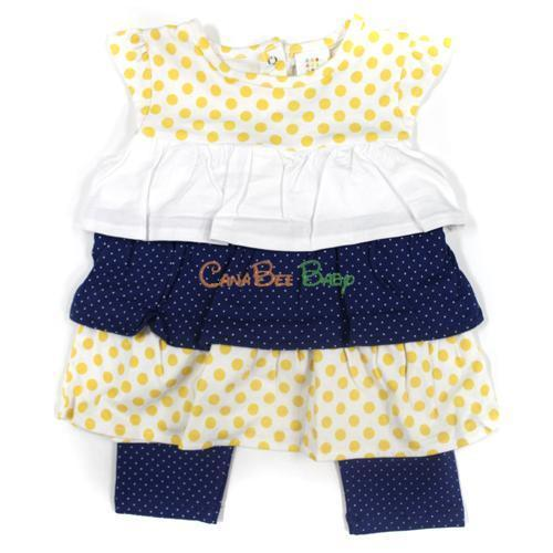 Absorba 5220 Navy Yellow 2P Tunic/Legging Set - CanaBee Baby