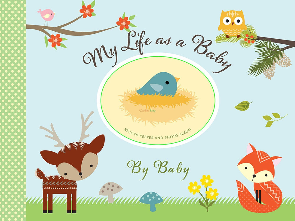 My Life As a Baby: Record Keeper & Photo Album - Woodland Friends - CanaBee Baby