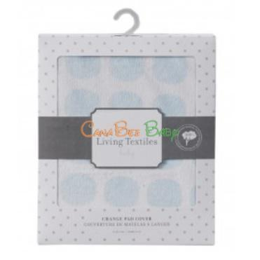 Living Textiles Baby Change Pad Cover Blue Mod Dot - CanaBee Baby