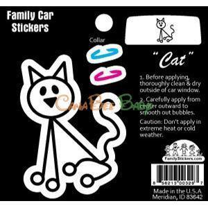 Family Car Stickers (Full Color) - Cat - CanaBee Baby