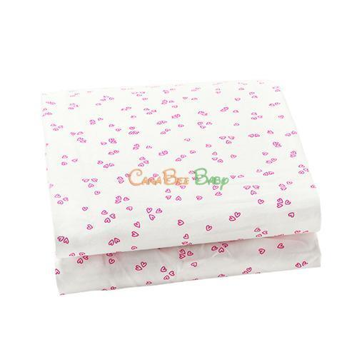 Auggie Crib Fitted Sheet - Flutter Pink - CanaBee Baby