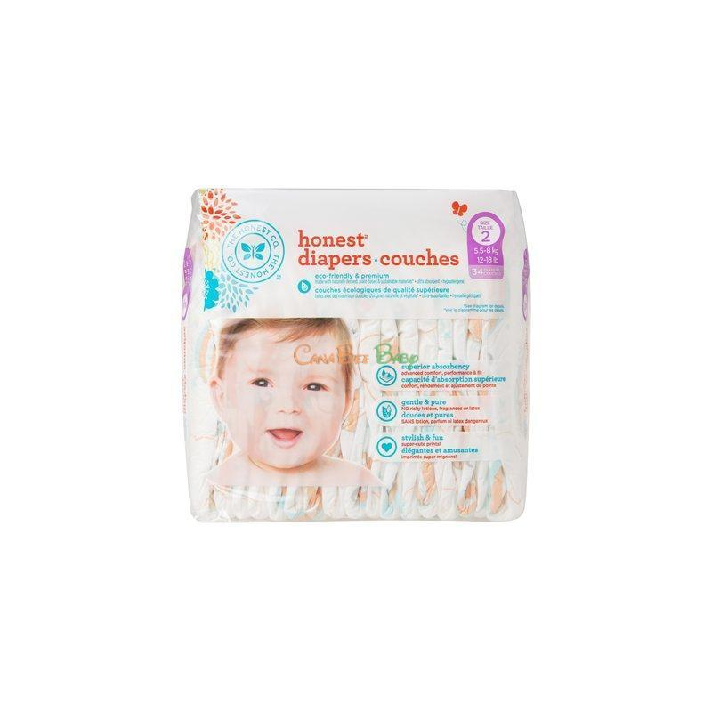 The Honest Company Diapers Size 2 - 34ct - CanaBee Baby
