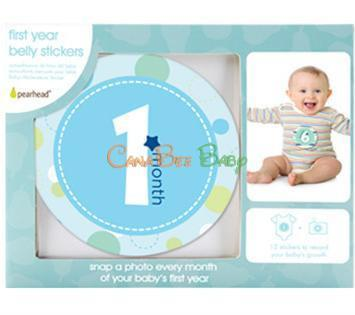 Pearhead Milestone Stickers - Boy Color - CanaBee Baby