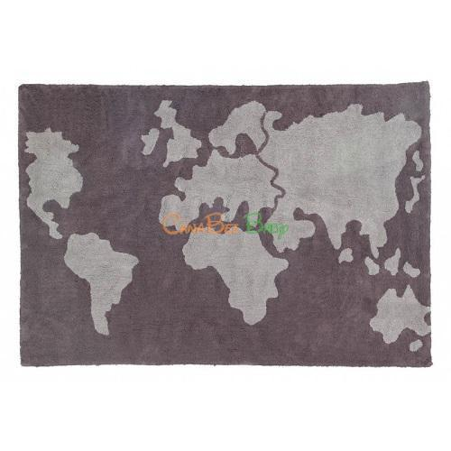 Lorena Canals Rug Map Dark Grey - Light Grey - CanaBee Baby